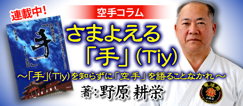 沖縄伝統空手「手」バナー